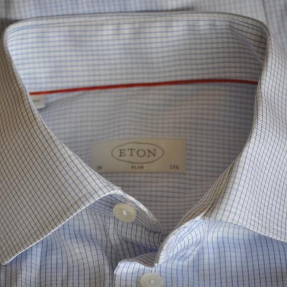Eton Other - ETON Lt Blue Slim Fit Dress Shirt Size 15 x 34/35